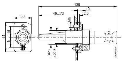 Размеры датчика Siemens RAR9(2)
