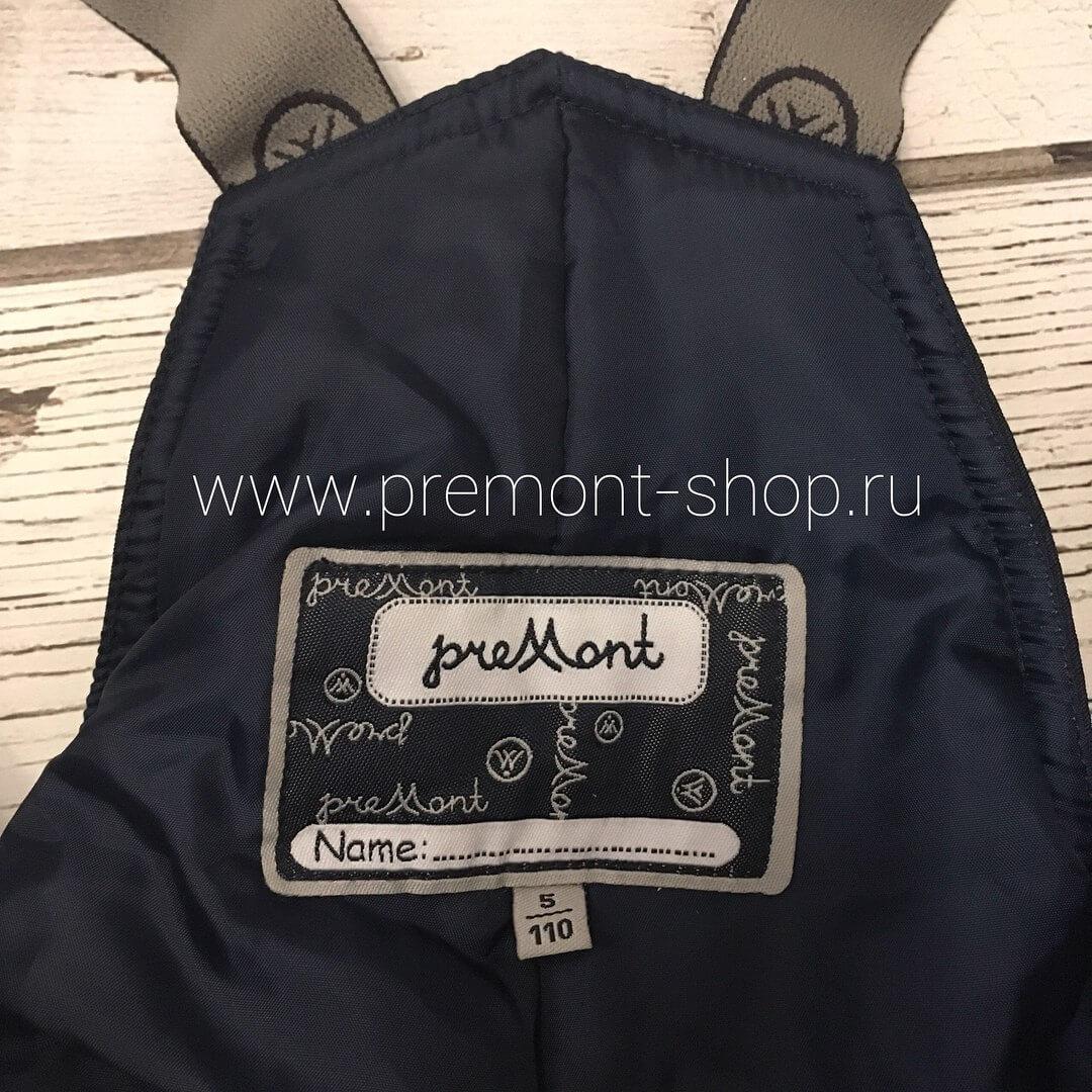 Этикетка на полукомбинезоне Premont