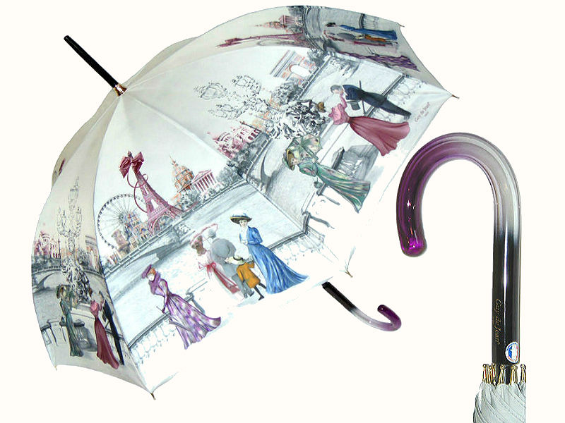 Зонт Париж винтажный стиль