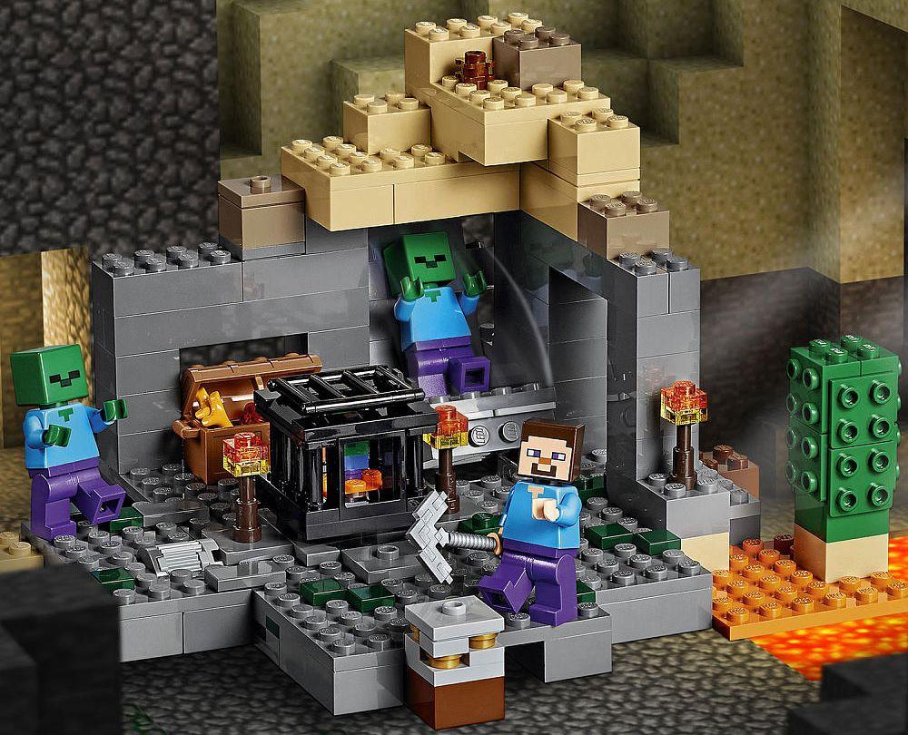 В подземелье с Лего 21119