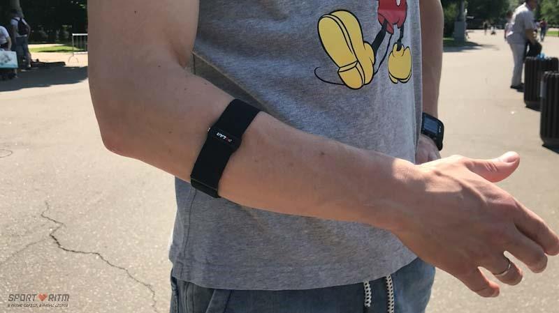 датчик пульса polar OH1 на руке
