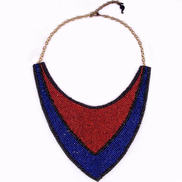 купить-массивное-сине-кнасное-ожерелье-воротник-из-бисера-картинки