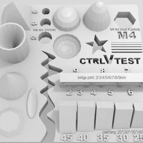 тесты для 3д принтера