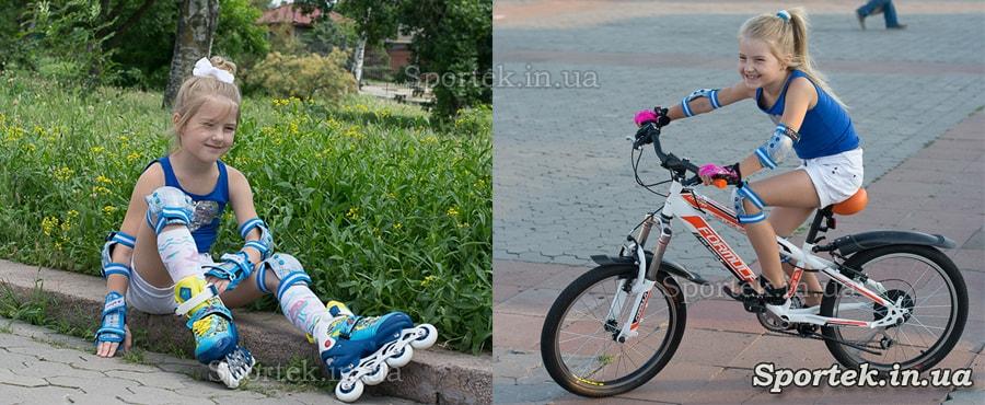 Одна защита для детей для роликовых коньков и велосипеда