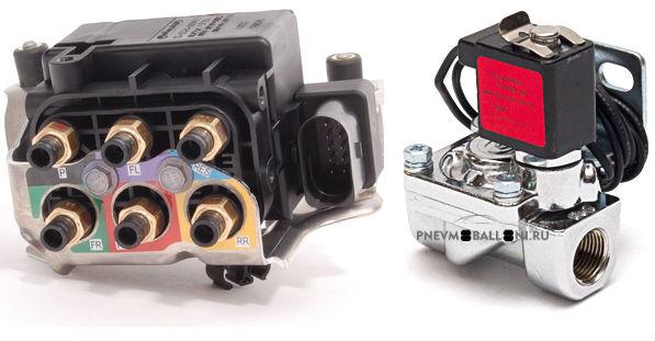 Пример пневмоподвески на электромагнитных клапанах