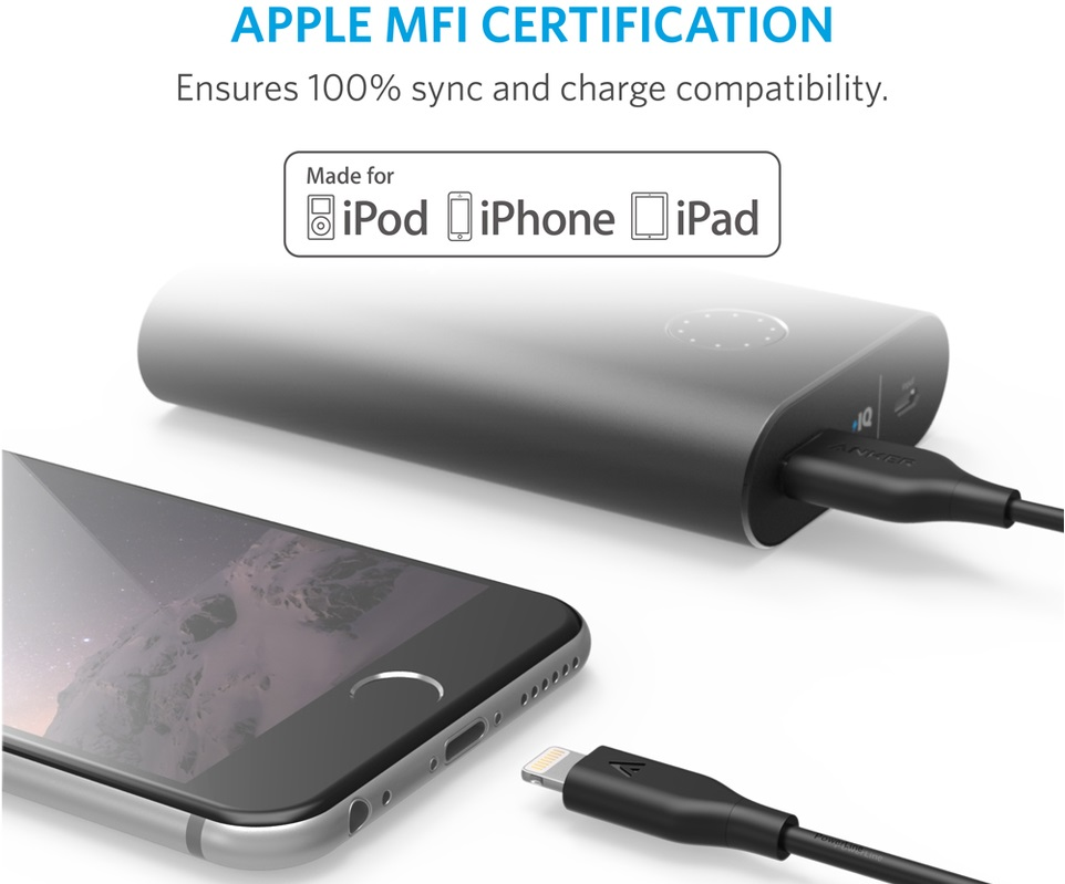 Anker Lightning to USB Premium Cable - Кабели для синхронизации Apple iPhone, iPad и iPod с разъёмом Lightning.