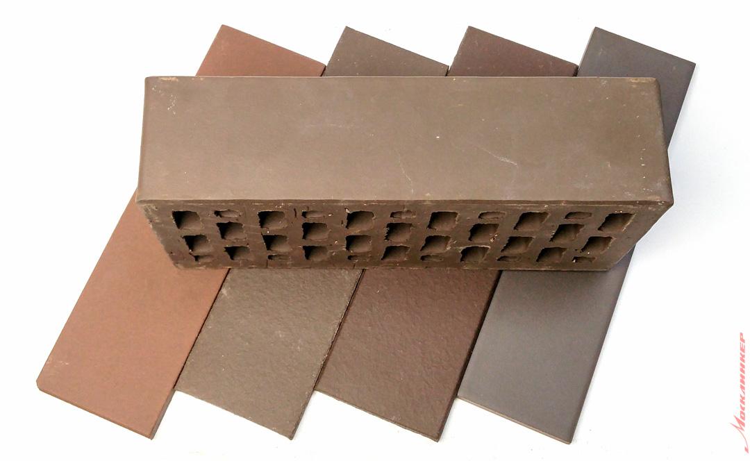 """Плитка под кирпич, цвет коричневый, """"Шоколад"""""""
