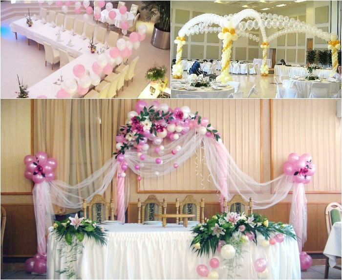 Шары для декорирования свадебного зала