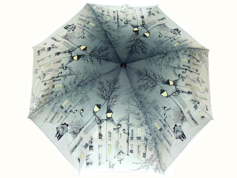 Винтажный стиль вечерняя прогулка по Парижу зонт автомат