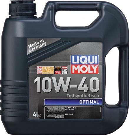 Масло Оптимал 10w40 liqui moly для ВАЗ и УАЗ
