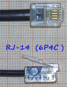 RJ-14 разъем 6P4C
