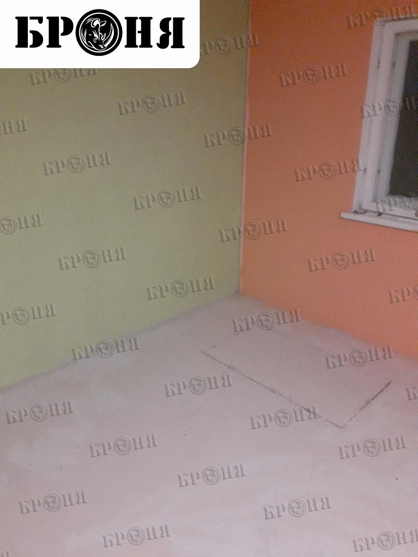 """Калуга. Утепление внутренних стен и пола жидкой теплоизоляцией """"Броня"""" с добавлением колера"""