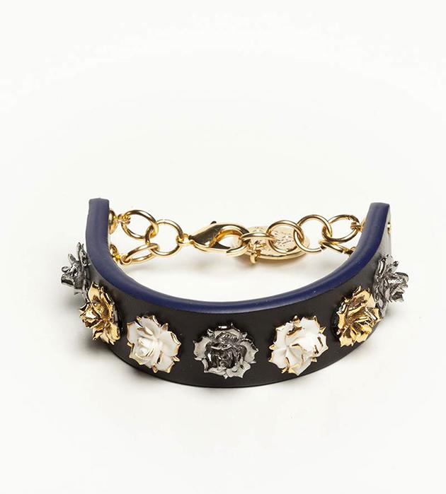 купите оригинальный браслет чёрного цвета с розами из фарфора Mini Flower Black от ANDRES GALLARDO