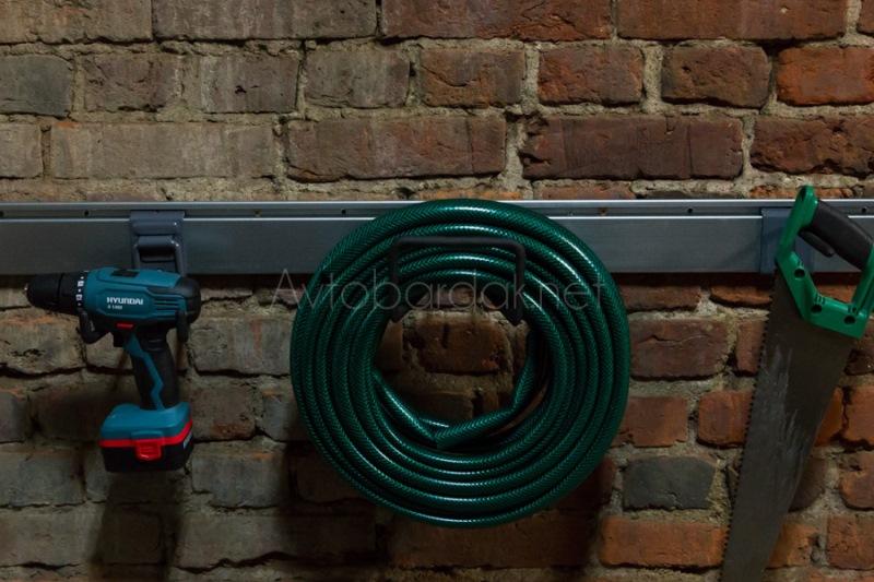 Настенный рейлинг для хранения и крепления инструментов оцинковка