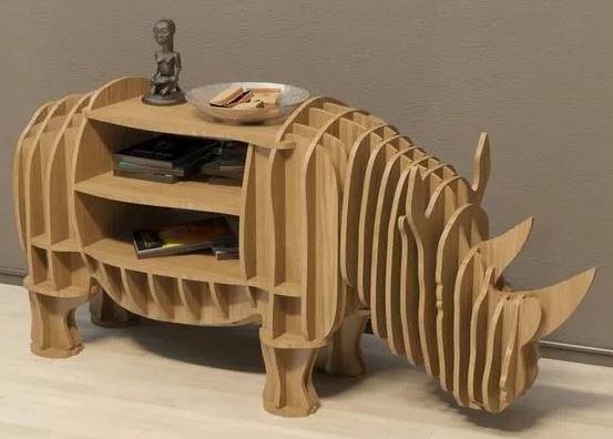Изделие из фанеры носорог