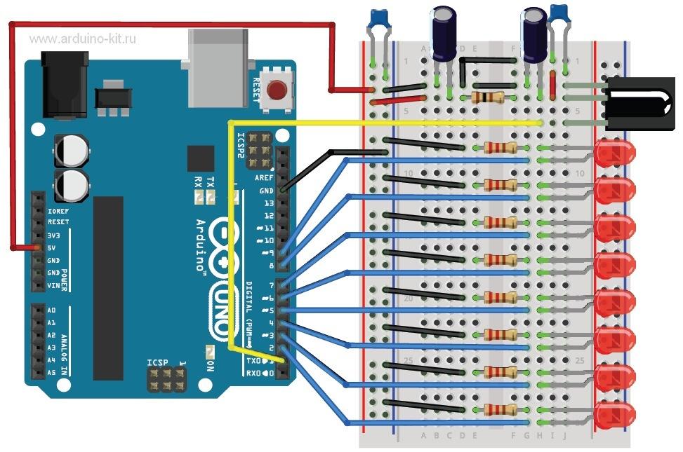 Arduino проект 25:  ИК-фотоприемник и ИК-пульт. Обрабатываем команды от пульта