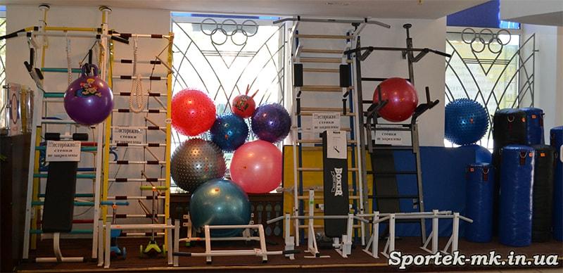 шведские стенки, Шведские спортивные стенки и мячи для гимнастики в магазине