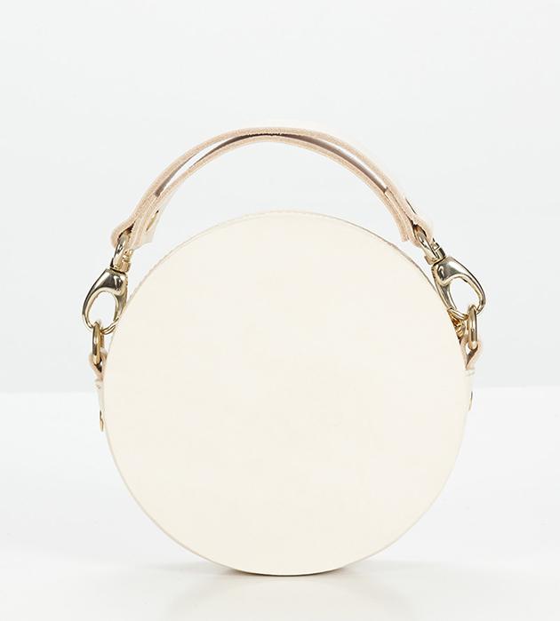 купите стильная сумка розового цвета с головой льва из фарфора от ANDRES GALLARDO - Round Lion Mini Bag