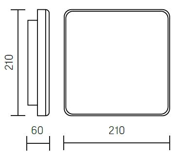 Размеры светового указателя пожарного гидранта, пожарного крана, пожарной безопасности TOKEN IP65
