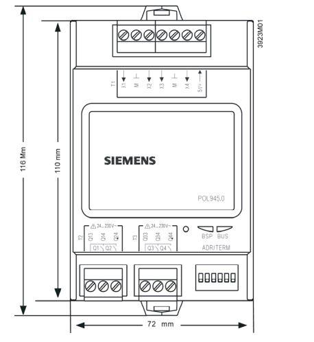 Размеры Siemens POL945.00/STD