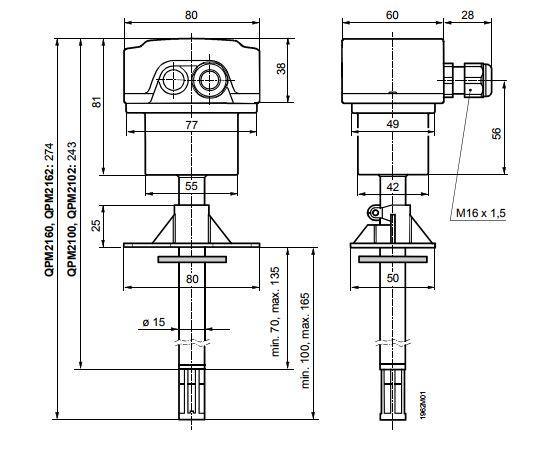 Размеры Siemens QPM2162D
