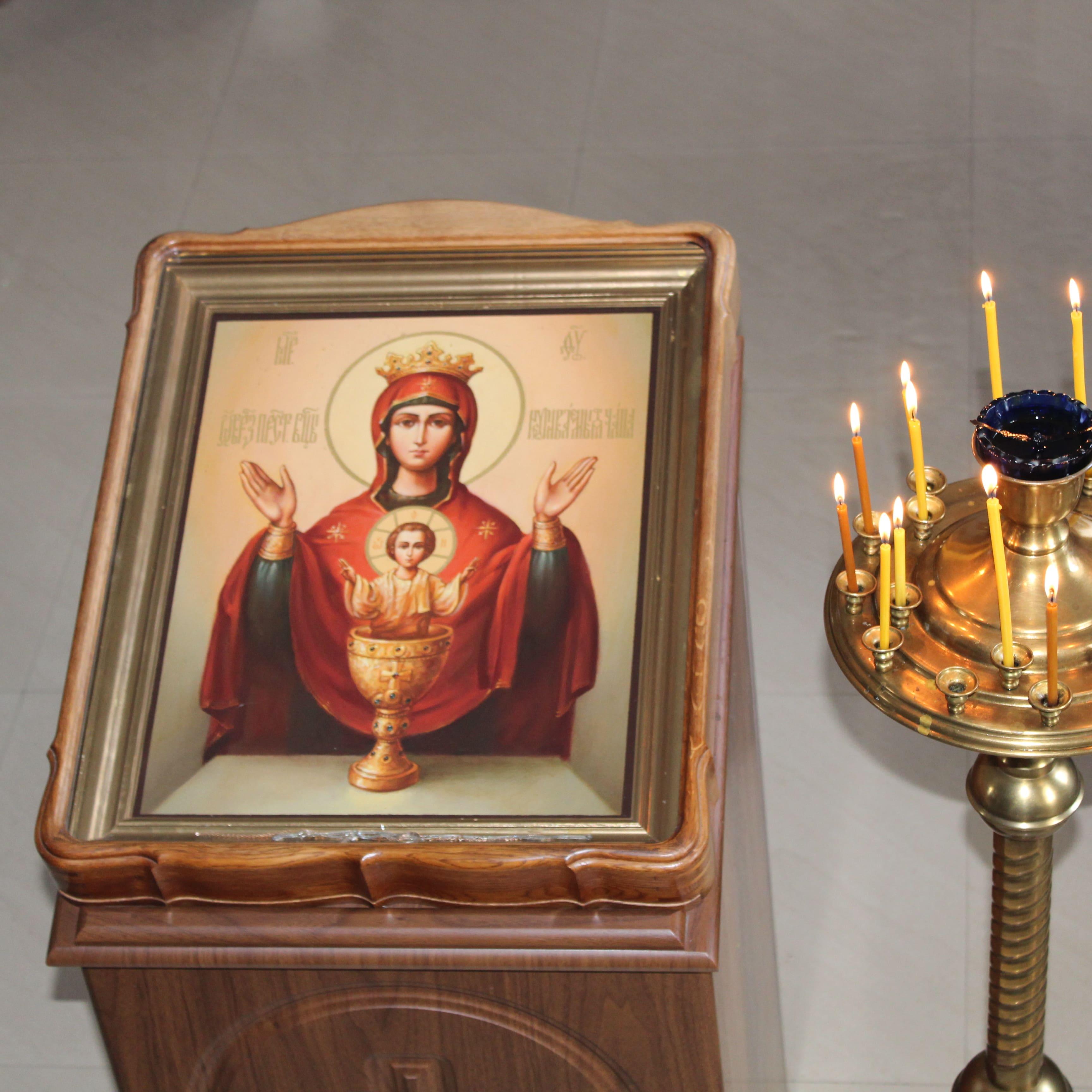 """Икона """"Неупиваемая чаша"""" в Свято-Покровском храме"""