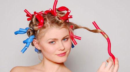 Укладка волос с помощью бигуди