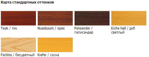 Реммерс импрагнер лазурь цвета