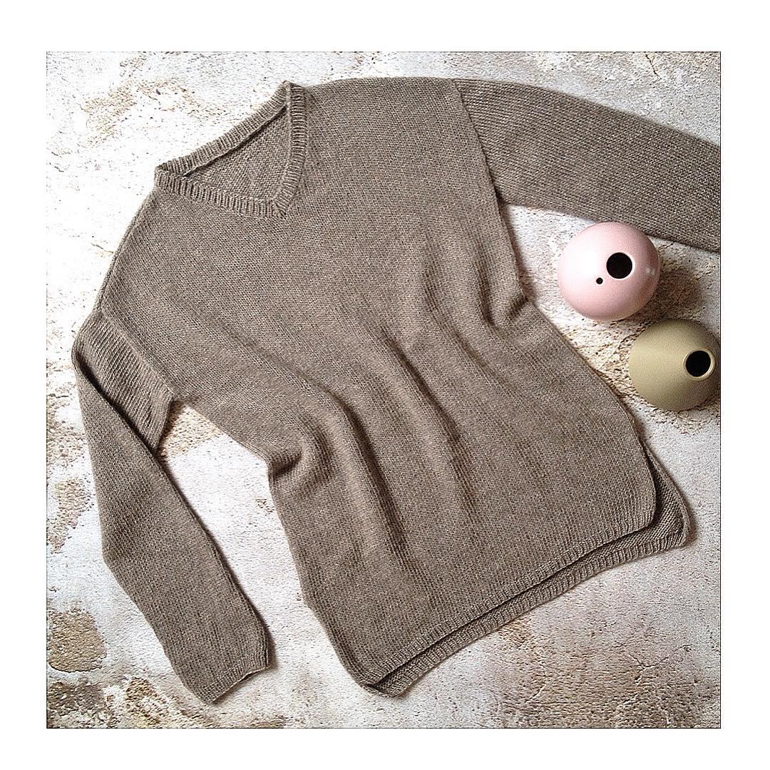 Пуловер из пряжи 100% монгольский кашемир