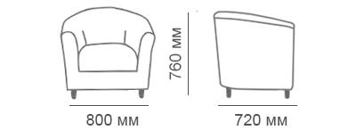 Габаритные размеры кресла Мак