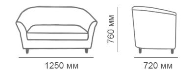 Габаритные размеры дивана Мак