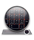 Integrated, full-size number pad