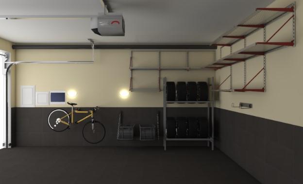 пристенные системы хранения шин в гараже