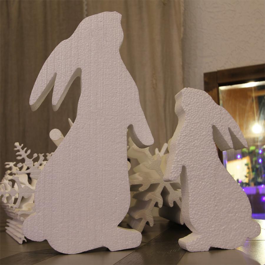 кролик из пенопласта без отделки