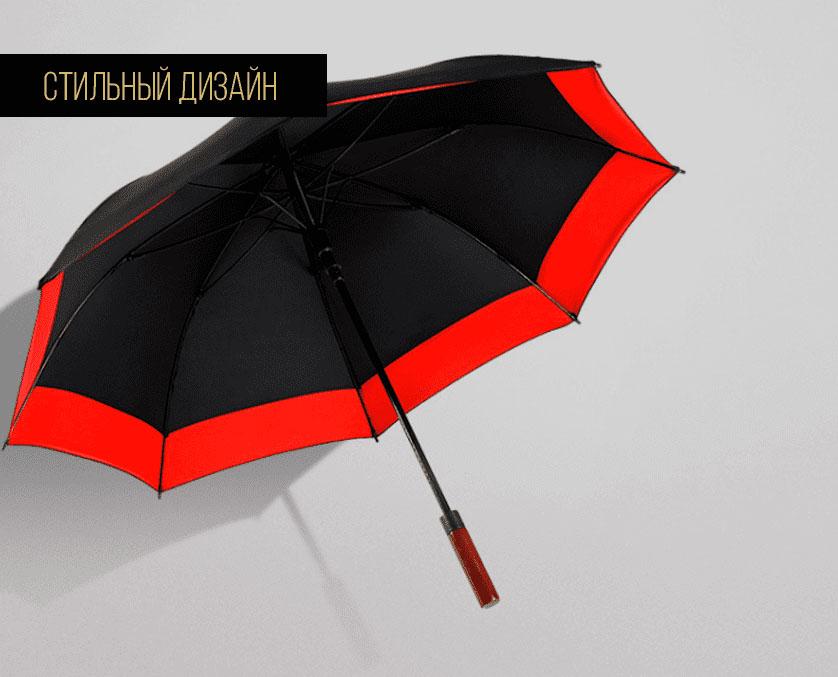 Зонт трость черно-красный | ZC Niello