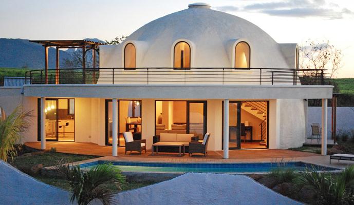 купольный дом из пенопласта.