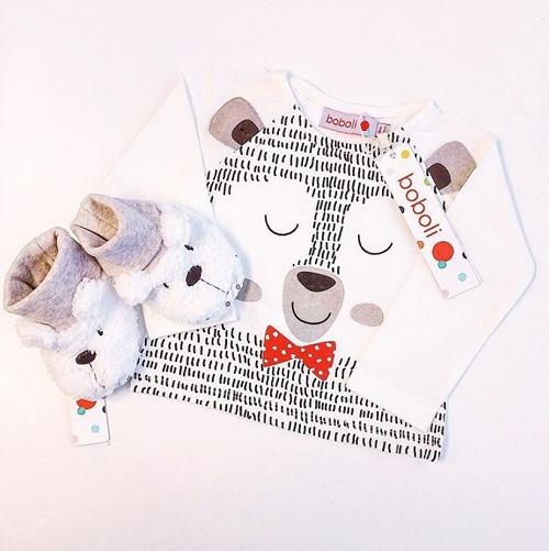 Толстовка Boboli Стеснительный мишка купить в интернет-магазине Мама Любит!