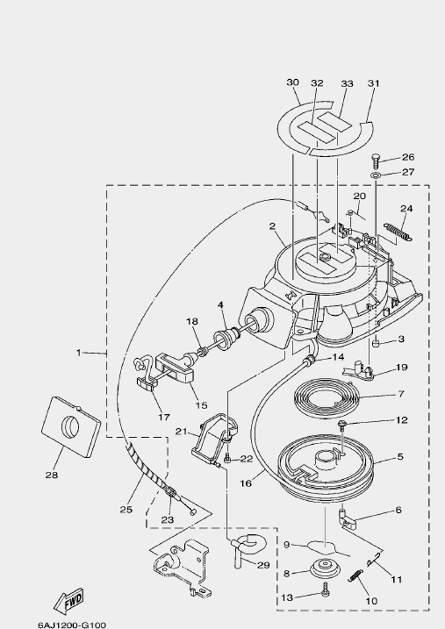 Запчасти стартера для лодочного мотора F20 Sea-PRO