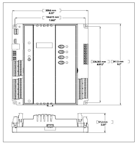 Размеры модуля Schneider Electric ACX XPBD4