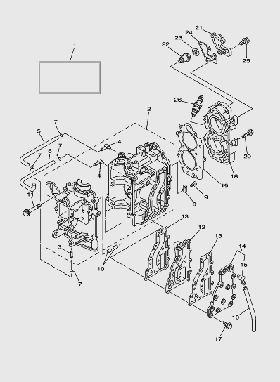 Блок цилиндров лодочного мотора SEA_PRo T15 и OTH 9,9
