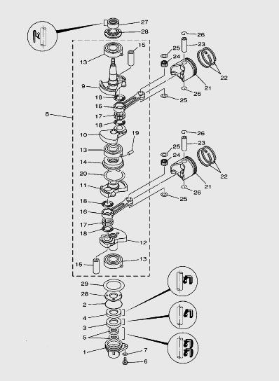 Коленваллодочного мотора SEA_PRo T15 и OTH 9,9