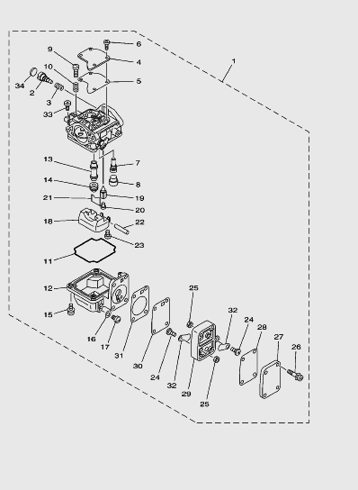 Карбюратор для лодочного мотора SEA_PRO T15 и OTH 9,9
