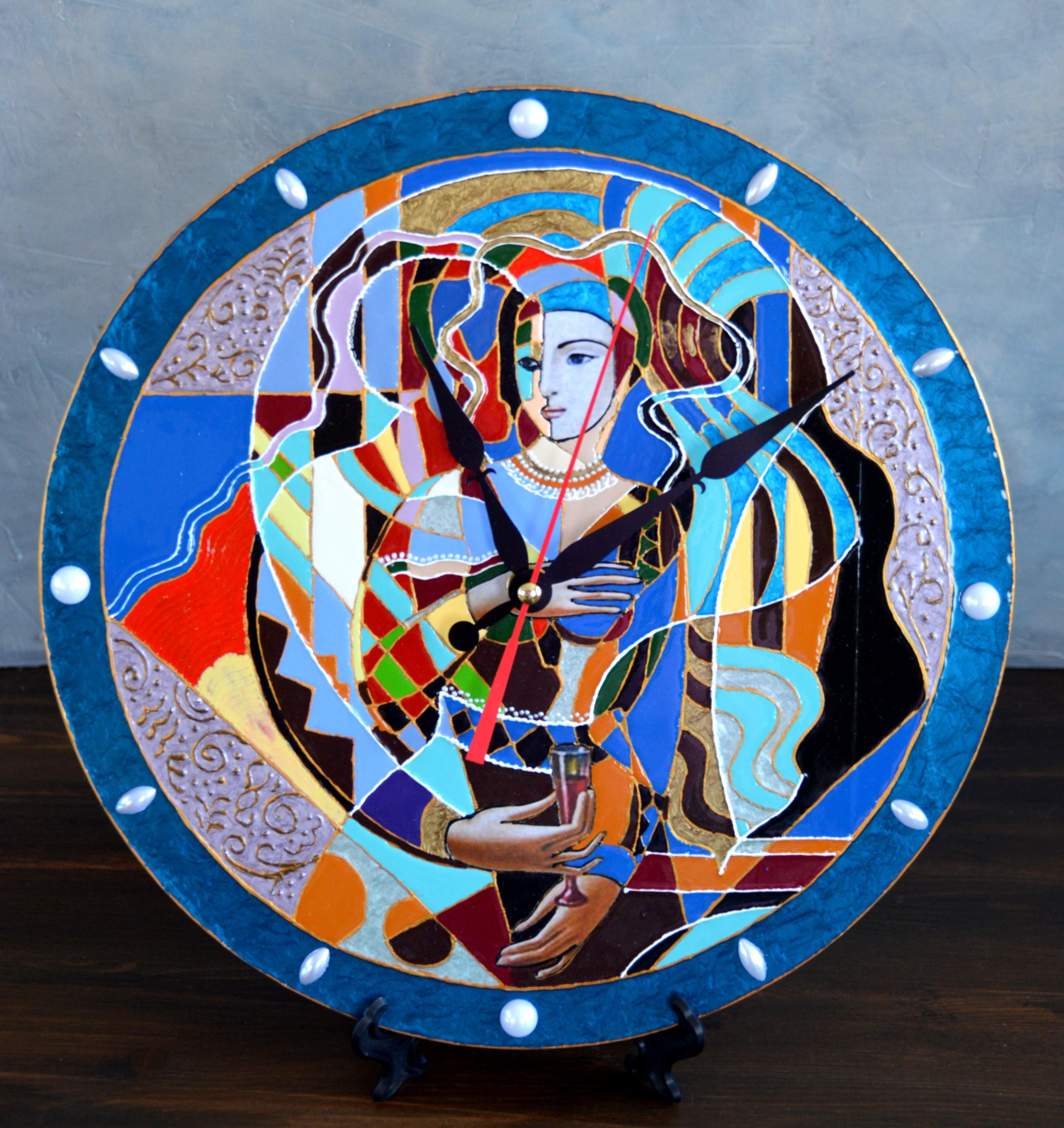 Работы Татьяны Яриной в технике имитации перегородчатой эмали лаковыми красками SMAR