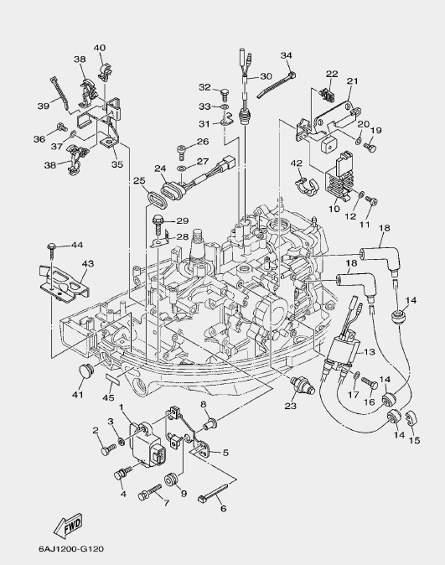 Запчасти электрической системы для лодочного мотора F20 Sea-PRO