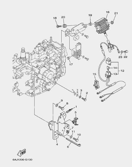 Запчасти электрики для лодочного мотора F20 Sea-PRO