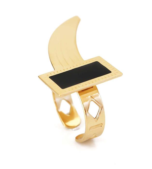 резное кольцo ручной работы от французского бренда Chic Alors Paris - Cornelius Noir