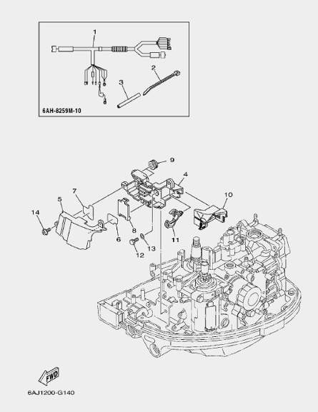 Запчасти электрической части лодочного мотора F20 Sea-PRO