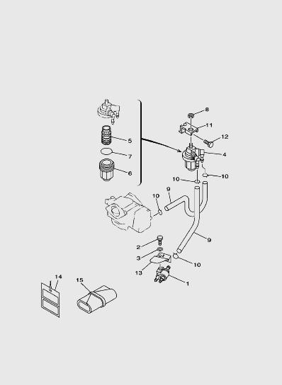 Система подачи топливадля лодочного мотора SEA_PRO T15 и OTH 9,9