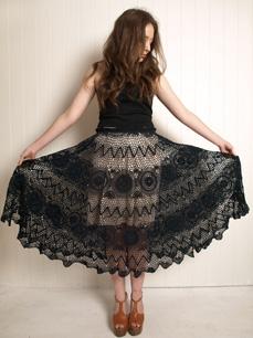 черное кружево юбка