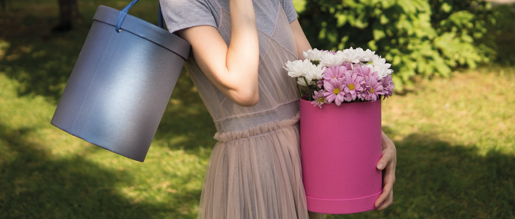 Шляпные коробки для цветов